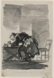 Estropiada codiciosa de Goya
