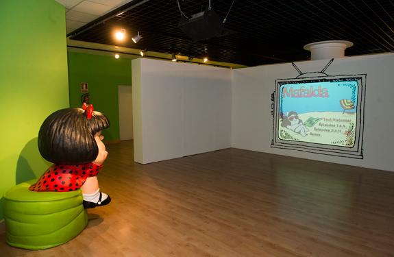 Exposición en la sala MIRA: Mafalda, una niña de 50 años