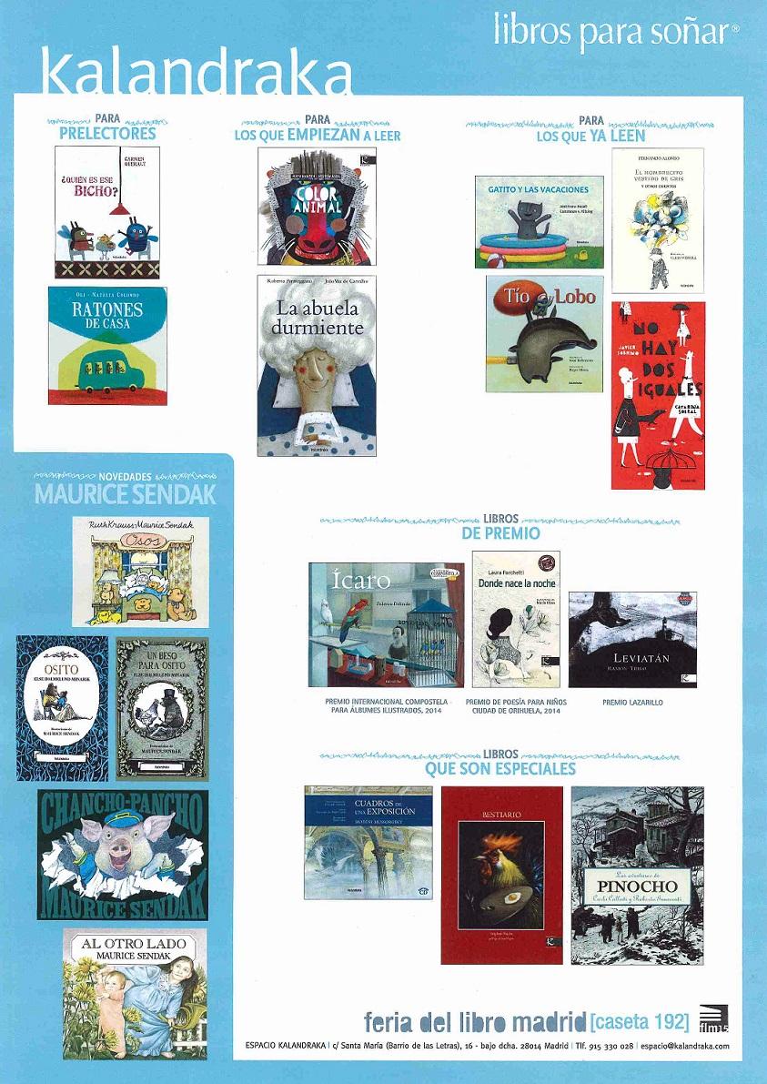 Libros para Soñar de KALANDRAKA, de nuevo en la Feria del Libro de Madrid