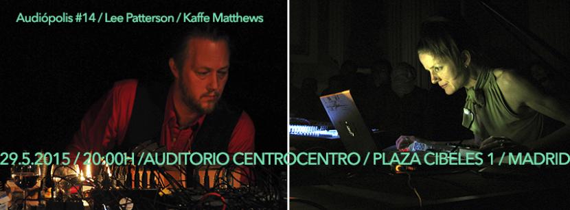 Lee Patterson y Kaffe Matthews, en directo mañana en AUDIÓPOLIS