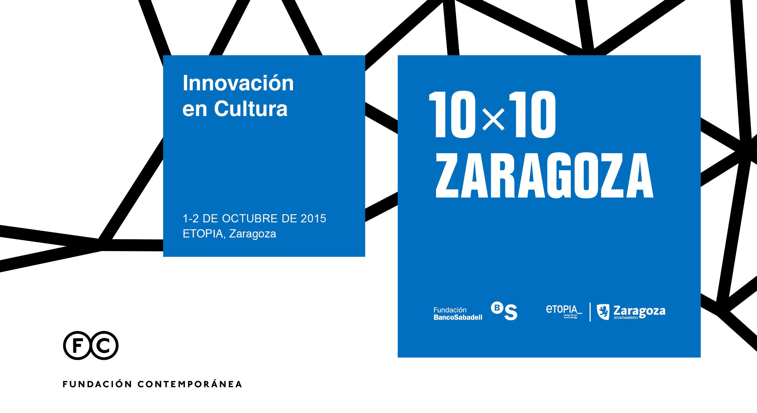 Bases de la convocatoria 10×10 Zaragoza. 2015
