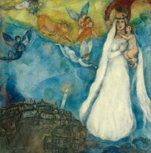 Virgen de la Aldea de Marc Chagall