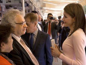 La Reina con Amin Maalouf @Jorge Aparicio