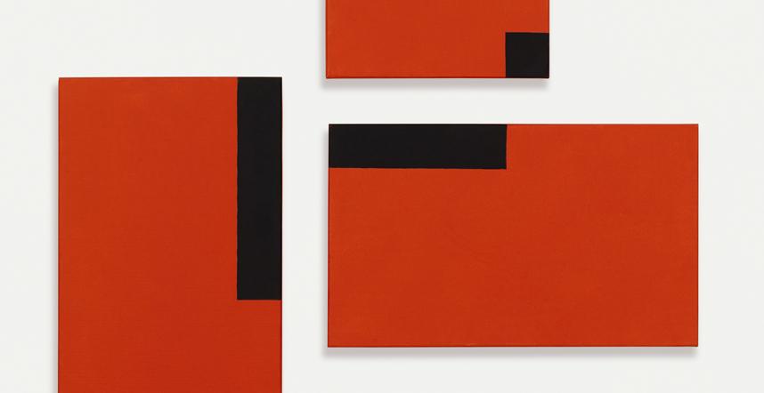 César Paternosto. Red Trio #6, 2015. Colección del artista, Segovia;